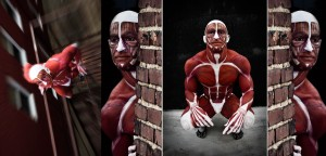 Jen Seidel's body painted Mr. Anatomy, photo by 80 West Studios