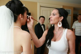 Jen Seidel does natural makeup on an asian bride