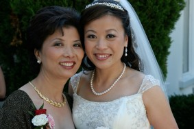 Asian bride and mother with simple makeup