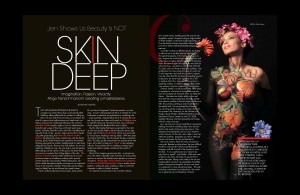 Jen Seidel's Body Painting featured in Washington's Finest Magazine
