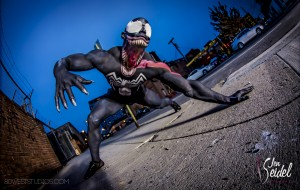 Jen Seidel's body painted Venom, photo by 80 West Studios